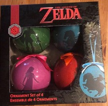 New Nintendo The Legend of Zelda Ornament Set of 4 Link Game Stop Exclusive - $22.76