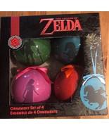 New Nintendo The Legend of Zelda Ornament Set of 4 Link Game Stop Exclusive - $22.76