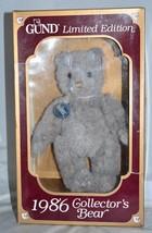 Limited Edition GUND Bear Original Gray Teddy Bear Collectors Edition 1986 - $49.49