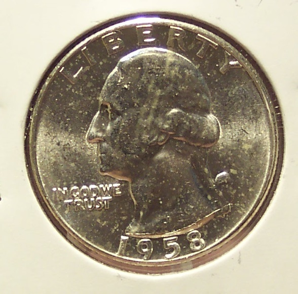 1958 Silver Washington Quarter GEM BU #352