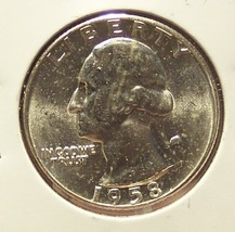 1958 Silver Washington Quarter GEM BU #352 image 1