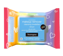 """Neutrogena Makeup Remover """"Care with Pride"""" Cleansing Towelettes, 25 Count Pack - $7.95"""