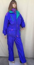 Vintage Marker Women's Two Piece Snow Suit Size S/M Small Jacket Med Pan... - $113.85