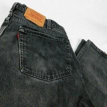 VTG Levis 505 Black Denim Jeans Regular Fit Straight  W40 L30 (Act W 38 ... - $36.99