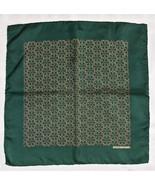 Hermes Silk Scarf Pochette Pocket Square Dark G... - $39.00