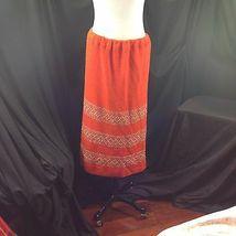 Vtg St John Knits Wiggle Groovy Hostess Sweater Dress Orange Gold Metallic M image 7