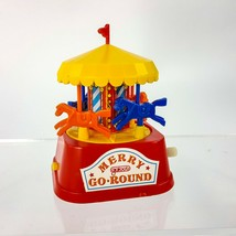 Vintage Galoob Plastic Wind Up Toy Carousel Merry Go Round Carnival Japan - $24.09