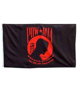 3x5 Pow Mia POWMIA Red You are Never Forgotten Flag 3'x5' House Banner g... - $20.00