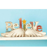 Believe   Sculpture  with Angel Wings  Christmas NEW - $15.95