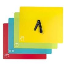 Flexible Plastic Cutting & Chopping Board Mats, Non Slip Mats with Zirco... - £8.16 GBP