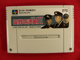 Teitoku no Ketsudan II (Nintendo Super Famicom SNES SFC, 1995) Japan Import - $3.70