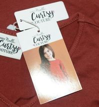 Simply Noelle Curtsy Couture Girls Cutout Long Sleeve Shirt Paprika Size Medium image 5