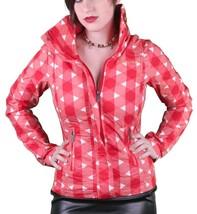 Bench UK Urbanwear Womens BBQ Barbecue Star Red Jacket w Hood BLKA1552 NWT - $51.53