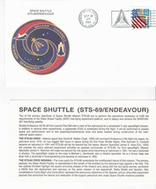 STS-69 ENDEAVOUR KENNEDY SPACE CENTER FL SEPTEMBER 18 1995 WITH INSERT CARD - $1.78