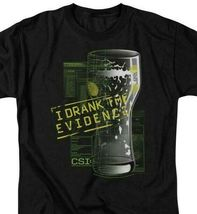 CSI t-shirt I Drank the Evidence TV series 100% cotton graphic tee CBS189 image 3