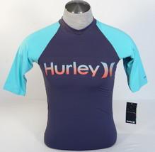 Hurley Signature Gray Short Sleeve Rashguard Surf Shirt Rash Guard Mens NWT - $37.49
