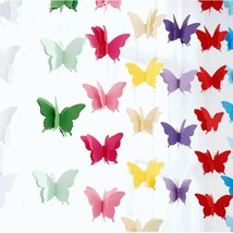 1PC 3M Butterfly Paper Garlands Colorful Wedding Birthday Party Banners ... - $8.00 CAD