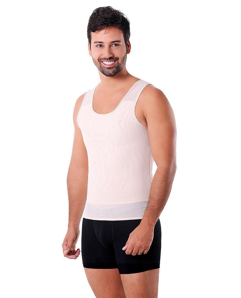 Men/'s Shapewear Powernet with Zipper Vedette Ref 314 T Shirt Control Abdominal