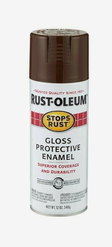 Primary image for Rust-Oleum Stops Rust LEATHER BROWN 12 oz Spray GLOSS Protective Enamel 7775-830