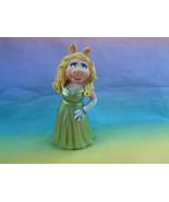 Disney Muppets Miss Piggy PVC Green Dress Figure or Cake Topper - as is - $8.17