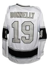 Mike Donnelly #19 New Haven Nighthawks Retro Hockey Jersey New White  Any Size image 2
