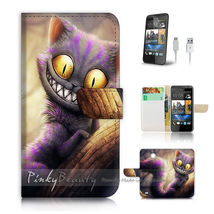 HTC Desire 310 Flip Wallet Case Phone Cover Cartoon Cheshire Cat - $25.65