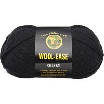 Wool-Ease Chunky Yarn-Black - $20.64 CAD