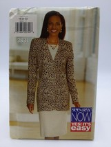 1994 Butterick Pattern # 3831 Size 18-22 Easy& Sew Misses Jacket & Dress - $9.86