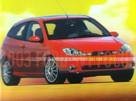 2003 Ford SVT FOCUS deluxe sales brochure catalog 03 NICE - $15.00