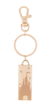 NWT Disney Parks Wish Castle Gem Rose Gold Color Metal Keychain Key Chain Ring - $14.80