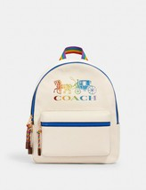 Coach Medium Charlie Ivory Backpack Rainbow Horse & Carriage MSRP: $378.00 - $222.75