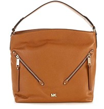 MICHAEL KORS EVIE SOFT LEATHER LARGE HOBO SHOULDER HANDBAG PURSE ACORN* - $149.99