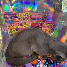 $22UPS1Day/$6USPS LISA FRANK Easter Puzzle Sealed stickers Rollouts Stamp Kitty image 2