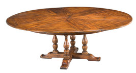 Magnificent Old World Solid Walnut Jupe Dining Table with Hidden Leaves - $3,762.00