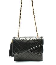 Auth CHANEL Mini Matelasse Chain Shoulder Bag Leather Black Vintage USED B0196 - $1,602.81