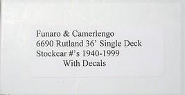 Funaro & Camerlengo HO Rutland Single Deck Stock Car #1940-1999,  Kit 6690 image 3