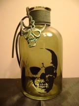 Halloween Glass Skull Bottle - $6.85