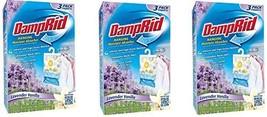 DampRid FG83LV Hanging Moisture Absorber Lavender Vanilla KPghdL, 3Pack 3 Pack,