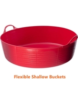 Red Flexible Feed Buckets Garden Kids Small Sand Ball Pit Pet Pool Water Pit Tub