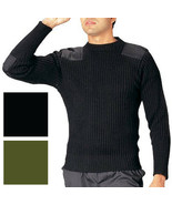 Wool Military Commando Sweater Crew Neck Uniform Ribbed Woolly Pully War... - $79.99+