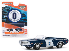 1971 Dodge Challenger Convertible Official Pace Car #0 Blue and White Ontario Mo - $14.69