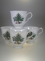 Nikko Happy Holiday Footed Coffee Mugs Set of 4 - $19.31