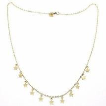 Halsband Gelbgold 750 18K, Mini Sterne Anhänger, Länge 42 CM - $457.98