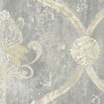 Regal Damask Wallpaper Norwall Wallcovering MH36506 - $42.56