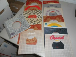 "Lot of 29 various Capitol Record Company Empty 10"" 45 rpm Record Sleeves - $28.71"