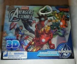 NEW 3PK Marvel Avengers Assemble Super 3D 100 Piece Puzzle Iron Man Hulk... - $16.72