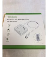 NTONPOWER Travel Power Strip 2 Outlets 3 USB Charging Ports (KF) - $4.50