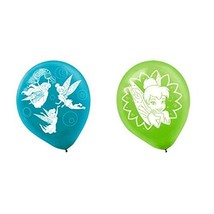 """Disney Tinkerbell Birthday Party Latex Balloons (6 Pack), Blue/Green, 12"""". - $4.99"""