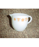 PYREX BUTTERFLY GOLD CREAMER HEAVY MILK GLASS EXCELLENT CONDITION FREE U... - $9.49