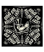 Lucky 13 The Old Speed Wolf Biker Tattooed Punk Taschentuch Halstuch LAB... - $13.64